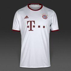 adidas FC Bayern München 16/17 3rd Shirt - White/Light Onix/Collegiate Burgundy