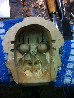 The inside of a puppet-head
