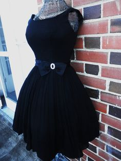 The Audrey Dress Breakfast at Tiffanys Little Black Cocktail Party Dress XS/S. $214.00, via Etsy.