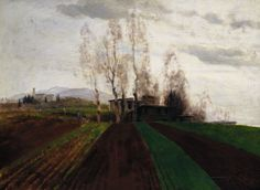 Arnold Böcklin: Ackerfluren im Vorfrühling (unvollendet), 1884 ©  bpk / Nationalgalerie, SMB / Klaus Göken