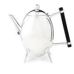 Dr. CHRISTOPHER DRESSER (1834-1904)  Teapot, manufactured by JAMES DIXON & SONS, Sheffield, circa 1881
