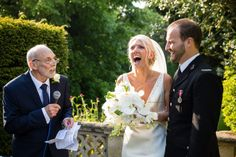 Fantastic moment bride laughs out loud at #weddingspeeches. Image by Gary Roebuck Photography