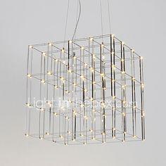 Modern Led Chandelier Light Stainless Steel 90-240V Lamp for Living Room Hotel Loft Lighting 2017 - £220.23