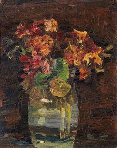 Nelken in Vase by PAUL KLEE 1908