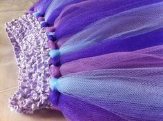 no-sew tutu DIY Halloween purple princess girls costume Disney's Sofia the First dress from the Intentional Momma!