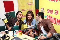 From Team Priyanka: We think it was definitely HOT at Radio Mirchi as the Gundas and the Gunday girl promoted their upcoming film!