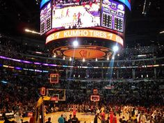 Staples Center for a Lakers game.