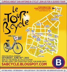 San Antonio, Texas - Tour de B-cycle  June 2012: We should totally do this, dontcha think?
