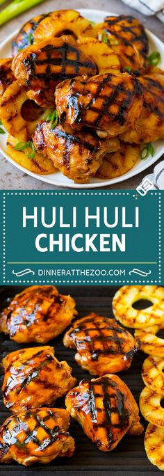 French Delicacies Essentials - Some Uncomplicated Strategies For Newbies Huli Chicken Recipe Hawaiian Chicken Grilled Chicken Thighs Grilled Chicken Legs, Grilled Chicken Recipes, Best Chicken Recipes, Recipe Chicken, Grilling Chicken, Huli Huli Chicken Marinade Recipe, Grilled Chicken With Pineapple, Marinade For Chicken Thighs, Chicken On The Grill