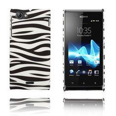 Zebra (Svart / Hvit) Sony Xperia J Etui