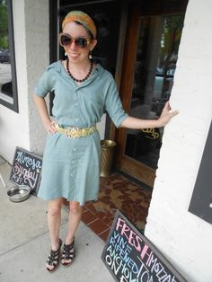 extra large button down to fitted shirt dress tutorial