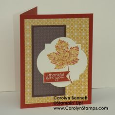 Monday, July 29, 2013 Carolyn's Paper Fantasies: Sketch Challenge TSSC274 - Magnificent Maple