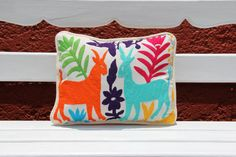 Multi colored otomi Sham Cushion by CasaOtomi on Etsy