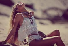 prettyperfectpink:  Hanalei Reponty, Camille Rowe for Free People May Shoot