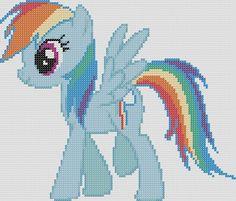 My Little Pony Inspired Pattern  Rainbow Dash by StitchedPixels, $1.25