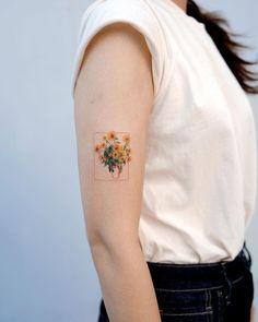 ✔ Tattoo Back Of Arm Sunflower Sunflower tattoo – Fashion Tattoos Mini Tattoos, Body Art Tattoos, Small Tattoos, Tattoo Drawings, Tattoo Sketches, Faith Tattoos, Circle Tattoos, Anchor Tattoos, Van Gogh Tattoo