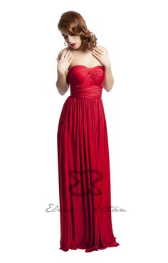 Eliza and Ethan - Multiway - Infinity -  Bridesmaids Dresses - OneSize - Maxi MultiWrap Dress Color: Ruby