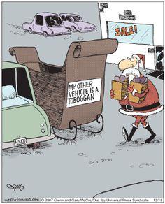 The Flying McCoys by Glenn and Gary McCoy  ~ Christmas Humor ~ Santa's Sleigh