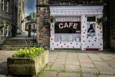 Holmfirth Gets All Spotty with Tour de France Trimmings - Sids cafe #5787990  #tourdefrance #legranddepart #letouryorkshire #letourholmfirth #yorkshire #cycling #tdf #holmfirth