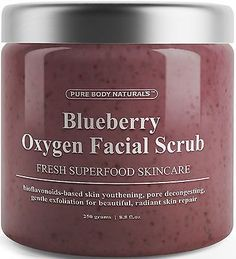 Blueberry Oxygen Facial Scrub - Loaded with Antioxidants for Facial Rejuv... New