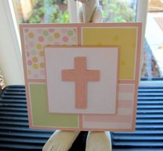 CAS baptism card for G by moster - Cards and Paper Crafts at Splitcoaststampers