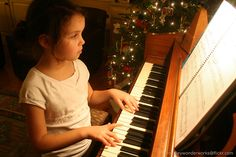 A list of websites with free Christmas sheet music for piano.