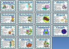 Science Teaching Resource - Materials and their Properties printable classroom display posters for primary and elementary schools Ks2 Science, Primary Science, Third Grade Science, Science Classroom, Science Lessons, Teaching Science, Science Projects, Science Experiments, Science Display