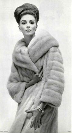 50s fashion when furs were fashionable :)      I Love My Fur Coat!!! It's Just So Soft and Warm!!! I need a few more....