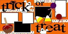 Trick or Treat Scrapbook PageKit. $8.00