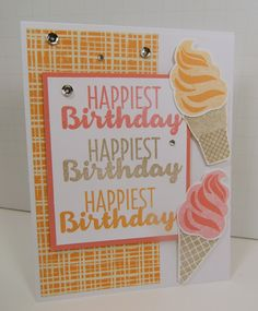 Stampin' Up! Occasions Catalog sneak peek of Cool Treats.  So pretty when combined with Playful Palette DSP paper pack.