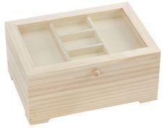 Kleines+Holz-Nähkästchen € 9,95 Articles En Bois, Creative Crafts, Boxes, Crate, Deco, Gifts