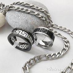 """Το αγαπημένο ανδρικό κόσμημα! Βεράκια από ατσάλι και αλυσίδα λαιμού σχέδιο """"figaro"""" από ατσάλι. . . ✔Δωρεάν Μεταφορικά σε όλη την Ελλάδα! θα τα βρεις στο asimenio.gr Τηλ 2310 531 382 . . #asimenio_gr #asimenio #jewelry #jewellery  #kosmimata #kosmima #andrika #mensjewelry #menstyle #κοσμήματα #κοσμημα #βερες #βεράκια #αλυσίδα #αλυσιδα #αλυσιδες #θεσσαλονικη #classic #ανδρικά #ανδρικό #greece #δωρεανμεταφορικα #δωρακι #steel #style Rings For Men, Bracelets, Silver, Clothes, Jewelry, Outfits, Men Rings, Clothing, Jewlery"""