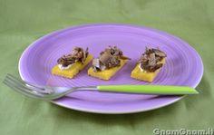 Crostini di polenta vegan - Gnam Gnam