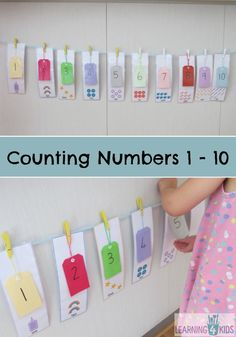 Counting Numbers 1 - 10 Activity - FREE printable.