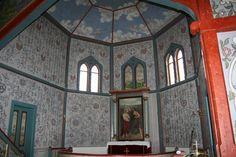 Inside of Vingelen church, built around 1880, Norway