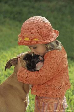 Cute little girl kissing her Boxer dog, Buddy. They are the best dogs! Love My Dog, Puppy Love, Boxer And Baby, Boxer Love, Cute Little Girls, Cute Kids, Animals For Kids, Cute Animals, Best Dogs