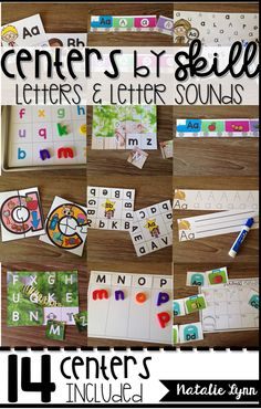 14 fun centers to practice letters and letter sounds all year long!