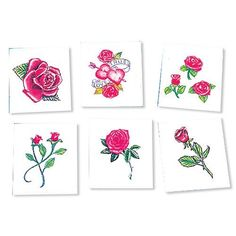 Toys games temporary tattoos on pinterest rubbing for Wash off temporary tattoos
