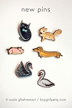 Flying Squirrel Pin by Susie Ghahremani / boygirlparty.com – the boygirlparty shop – shop.boygirlparty.com