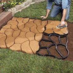 16 Ideas Cement Patio Diy Garden Paths For 2019 Unique Garden, Diy Garden, Natural Garden, Floor Molding, Diy Molding, Landscape Design, Garden Design, Path Design, Path Ideas