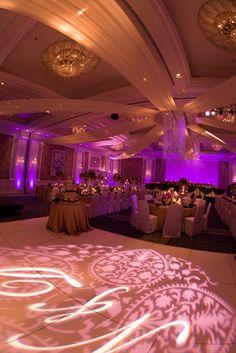 Mood Event lighting and fabric draping