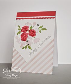 handmade anniversarycard with Painted Blooms ... Stampin' Up