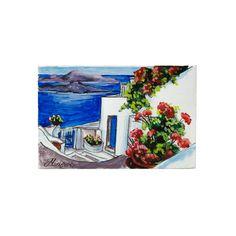 (Ελληνικά) Χειροποίητος πίνακας ζωγραφικής με τοπίο πάνω σε ξύλο ζωγραφισμένο με λαδομπογιάδες Landscape Paintings, Greek, Places, Handmade, Hand Made, Landscape, Greece, Landscape Drawings, Lugares