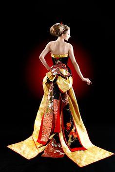Kimono dress from Alianza.jp