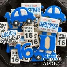 Mind your stop signs, folks...Christopher just turned 16!  #acookieaddict  #16thbirthday