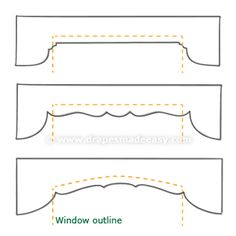 Valance Patterns Design Ideas, Pictures, Remodel and Decor Curtain Pelmet, Window Cornices, Window Coverings, Window Treatments, Thick Curtains, Drapes And Blinds, Short Curtains, Drapes Curtains, Cardboard Frames