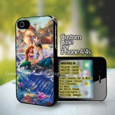 Disney Paintings Ariel The Little Mermaid Design For iPhone 4/4s Case