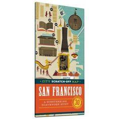 City Scratch-Off Map San Francisco : A Sightseeing Scavenger Hunt (Paperback) (Christina Henry De : Target