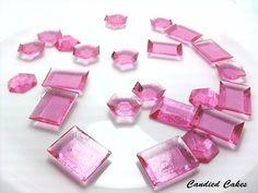 250  300 Zucchero commestibile rosa gioielli  di CandiedCakes