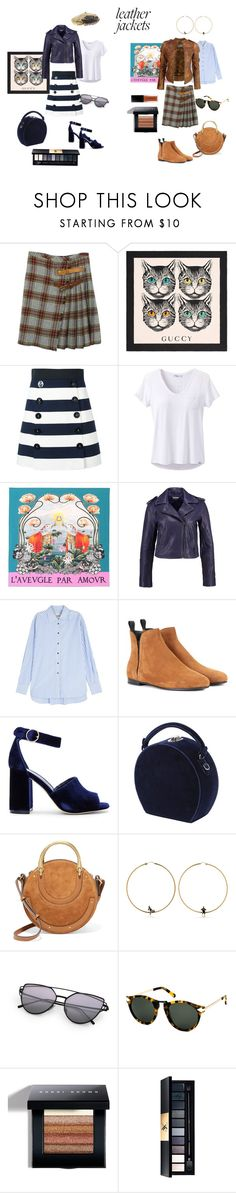 """leather jacket : seaside vs countryside"" by susibonvi ❤ liked on Polyvore featuring Dolce&Gabbana, Gucci, prAna, Khaite, VIPARO, Church's, Joie, Bertoni, Chloé and Alcozer & J"